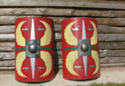 ..freshly painted legionary shields..