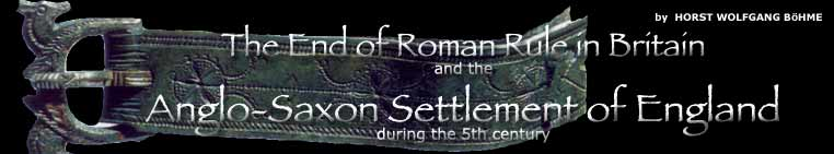 THE END OF ROMAN RULE IN BRITAIN AND THE ANGLO-SAXON SETTLEMENT OF ENGLAND DURING THE 5TH CENTURY.